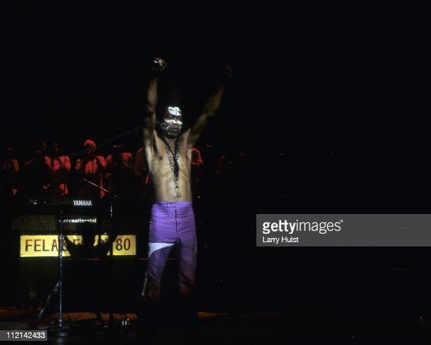 Fela Kuti performing at the Community Center in Berkeley California onFebruary 14 1986