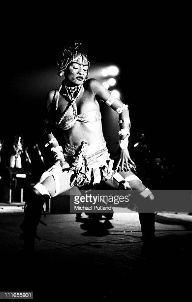 Fela Kuti performs on stage in Paris France December 1970