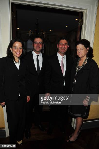 Felice Axelrod Frank Berman Tony Spring and Anne Keating attend Dinner party to celebrate The Child Mind Institute's 2010 Adam Jeffrey Katz Memorial...