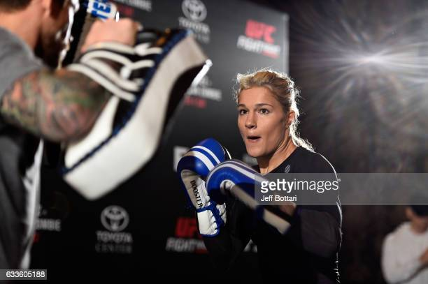 Felice Herrig holds an open workout for fans and media at Henke Pillot on February 2 2017 in Houston Texas