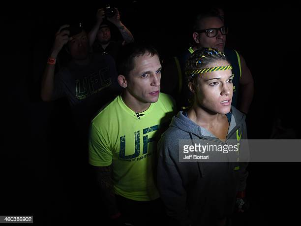 Felice Herrig prepares to enter the Octagon before facing Lisa Ellis in their strawweight fight during The Ultimate Fighter Finale event inside the...