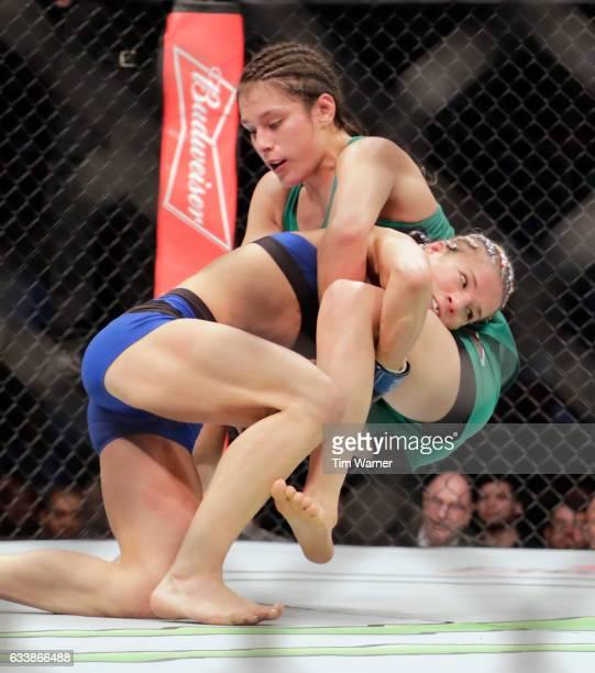 Felice Herrig takes down Alexa Grasso of Mexico in the third round on February 4 2017 in Houston Texas