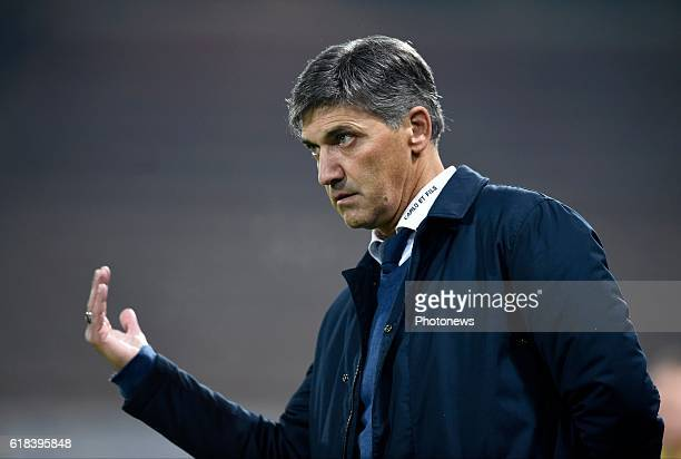 Felice Mazzu head coach of Sporting Charleroi pictured during Jupiler Pro League match between RCS Charleroi and KRC GENK on October 26 2016 in...