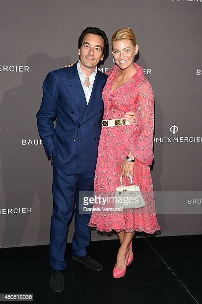 Felice Rusconi and Federica Fontana attend Baume Mercier Promesse New Women Collection Launch at Teatro Vetra on June 12 2014 in Milan Italy