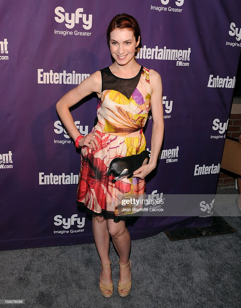 Felicia Day attends the EW and SyFy party during ComicCon 2010 at Hotel Solamar on July 24 2010 in San Diego California