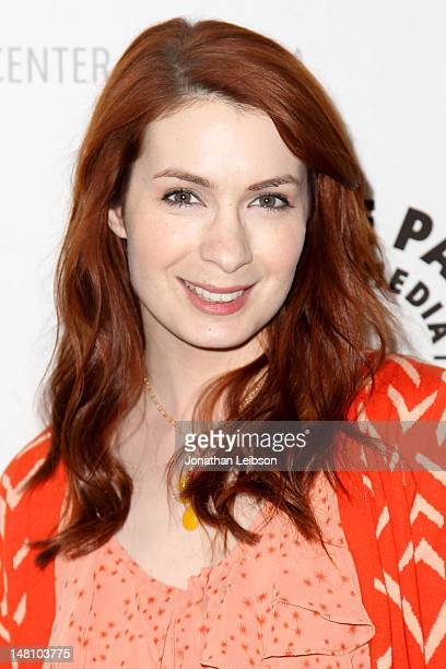 Felicia Day attends the The Paley Center For Media Presents An Evening With Syfy's 'Eureka' at The Paley Center for Media on July 9 2012 in Beverly...