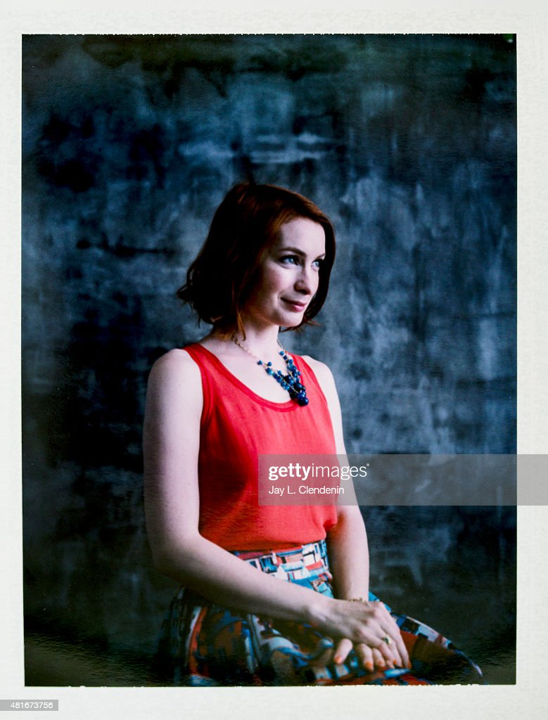 Felicia Day is photographed on polaroid film at Comic-Con International 2015 for Los Angeles Times on July 9, 2015 in San Diego, California. PUBLISHED IMAGE.