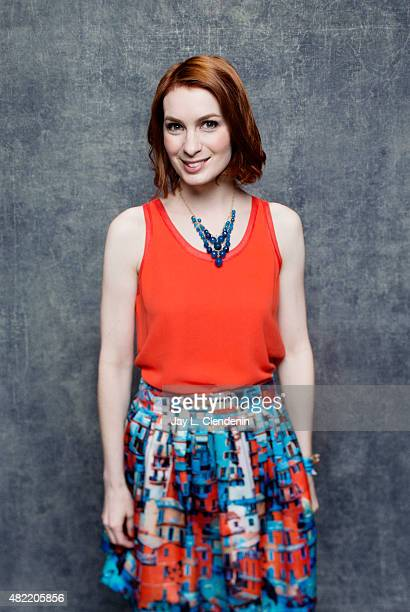 Felicia Day poses for a portrait at ComicCon International 2015 for Los Angeles Times on July 9 2015 in San Diego California PUBLISHED IMAGE CREDIT...