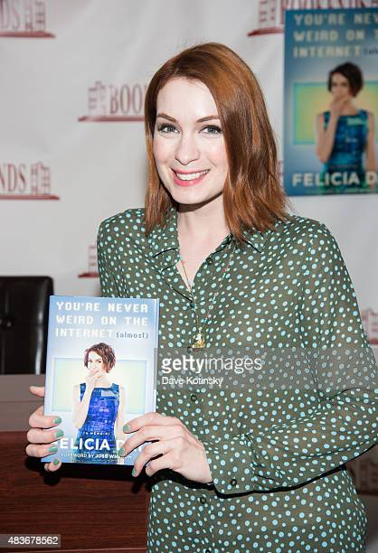 Felicia Day signs copies of her new book 'You're Never Weird on the Internet ' at Bookends Bookstore on August 11 2015 in Ridgewood New Jersey