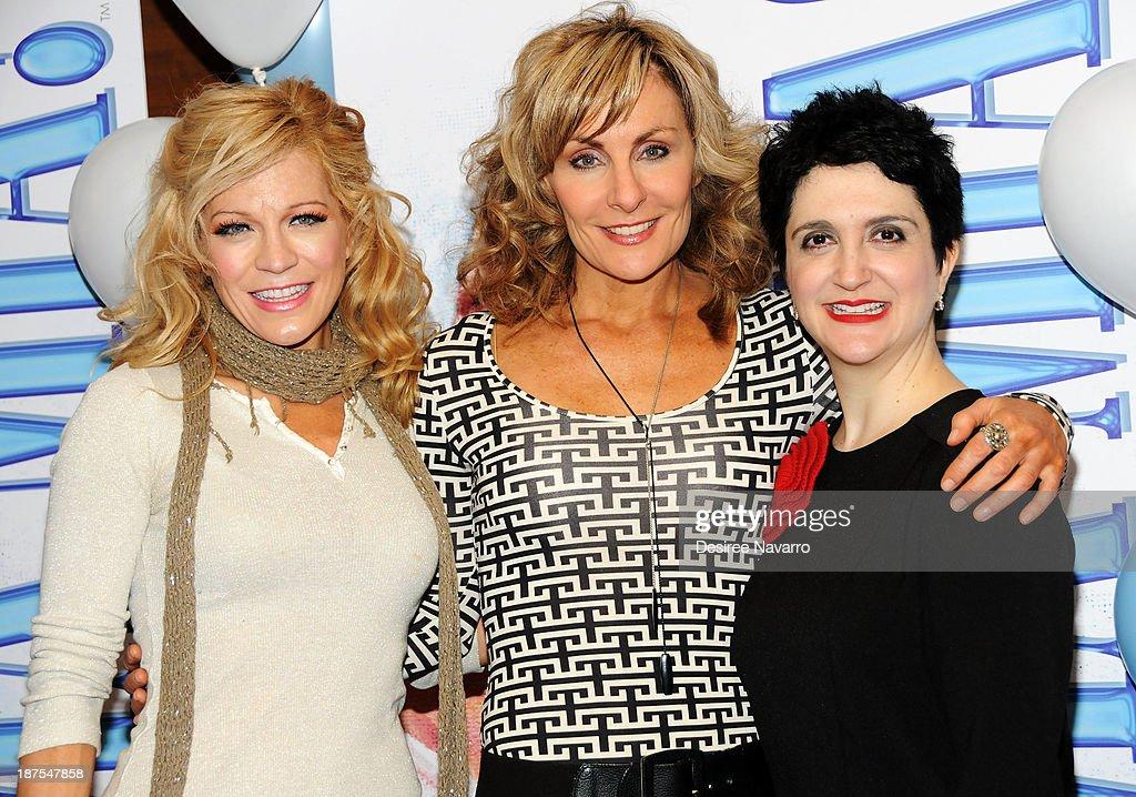 Felicia Finley, Judy McLane, and Lauren Cohn attend the 5,000 performance celebration of 'Mamma Mia!' on Broadwayat Sardi's on November 9, 2013 in New York City.