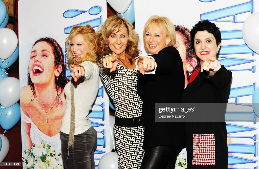 Felicia Finley, Judy McLane, <a gi-track='captionPersonalityLinkClicked' href=/galleries/search?phrase=Judy+Craymer&family=editorial&specificpeople=2574122 ng-click='$event.stopPropagation()'>Judy Craymer</a> and Lauren Cohn attend the 5,000 performance celebration of 'Mamma Mia!' on Broadwayat Sardi's on November 9, 2013 in New York City.