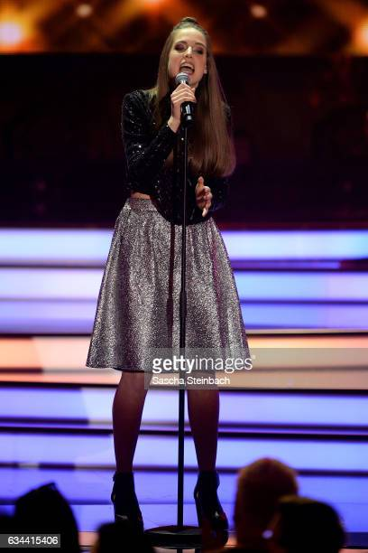 Felicia Lu Kuerbiss attends the 'Eurovision Song Contest 2017 Unser Song' show on February 9 2017 in Cologne Germany