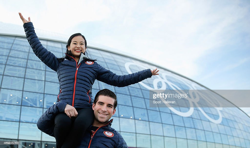 <a gi-track='captionPersonalityLinkClicked' href=/galleries/search?phrase=Felicia+Zhang&family=editorial&specificpeople=7338307 ng-click='$event.stopPropagation()'>Felicia Zhang</a> and Nate Bartholomay of the USA Figure Skating team pose in the Olympic Park during the Sochi 2014 Winter Olympics on February 13, 2014 in Sochi, Russia.