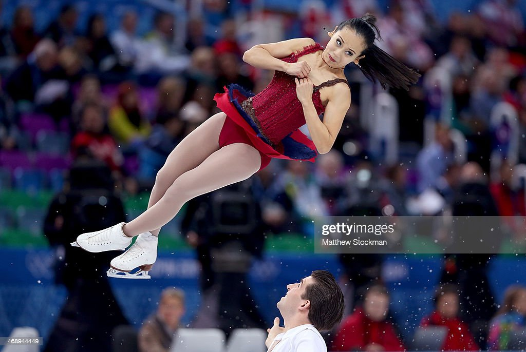 <a gi-track='captionPersonalityLinkClicked' href=/galleries/search?phrase=Felicia+Zhang&family=editorial&specificpeople=7338307 ng-click='$event.stopPropagation()'>Felicia Zhang</a> and <a gi-track='captionPersonalityLinkClicked' href=/galleries/search?phrase=Nathan+Bartholomay&family=editorial&specificpeople=9726215 ng-click='$event.stopPropagation()'>Nathan Bartholomay</a> of the United States compete in the Figure Skating Pairs Free Skating during day five of the 2014 Sochi Olympics at Iceberg Skating Palace on February 12, 2014 in Sochi, Russia.