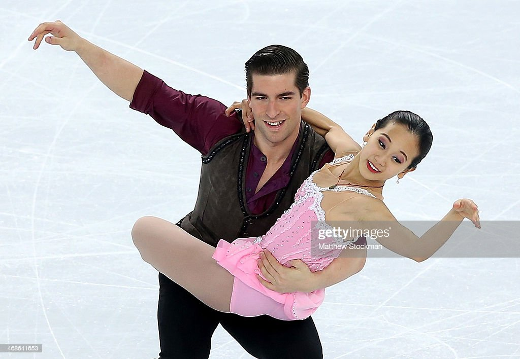 <a gi-track='captionPersonalityLinkClicked' href=/galleries/search?phrase=Felicia+Zhang&family=editorial&specificpeople=7338307 ng-click='$event.stopPropagation()'>Felicia Zhang</a> and Nathan Bartholomay of the United States compete during the Figure Skating Pairs Short Program on day four of the Sochi 2014 Winter Olympics at Iceberg Skating Palace on February 11, 2014 in Sochi, Russia.