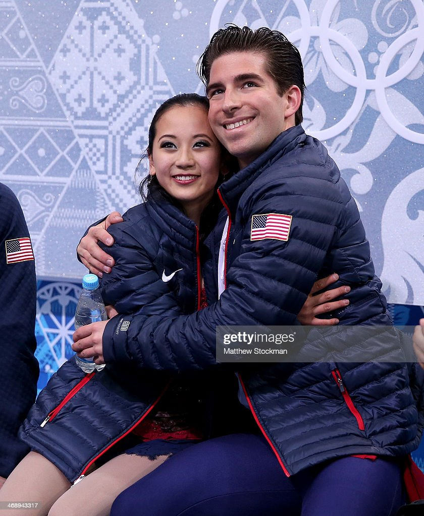 <a gi-track='captionPersonalityLinkClicked' href=/galleries/search?phrase=Felicia+Zhang&family=editorial&specificpeople=7338307 ng-click='$event.stopPropagation()'>Felicia Zhang</a> and <a gi-track='captionPersonalityLinkClicked' href=/galleries/search?phrase=Nathan+Bartholomay&family=editorial&specificpeople=9726215 ng-click='$event.stopPropagation()'>Nathan Bartholomay</a> of the United States wait for their score during the Figure Skating Pairs Free Skating during day five of the 2014 Sochi Olympics at Iceberg Skating Palace on February 12, 2014 in Sochi, Russia.
