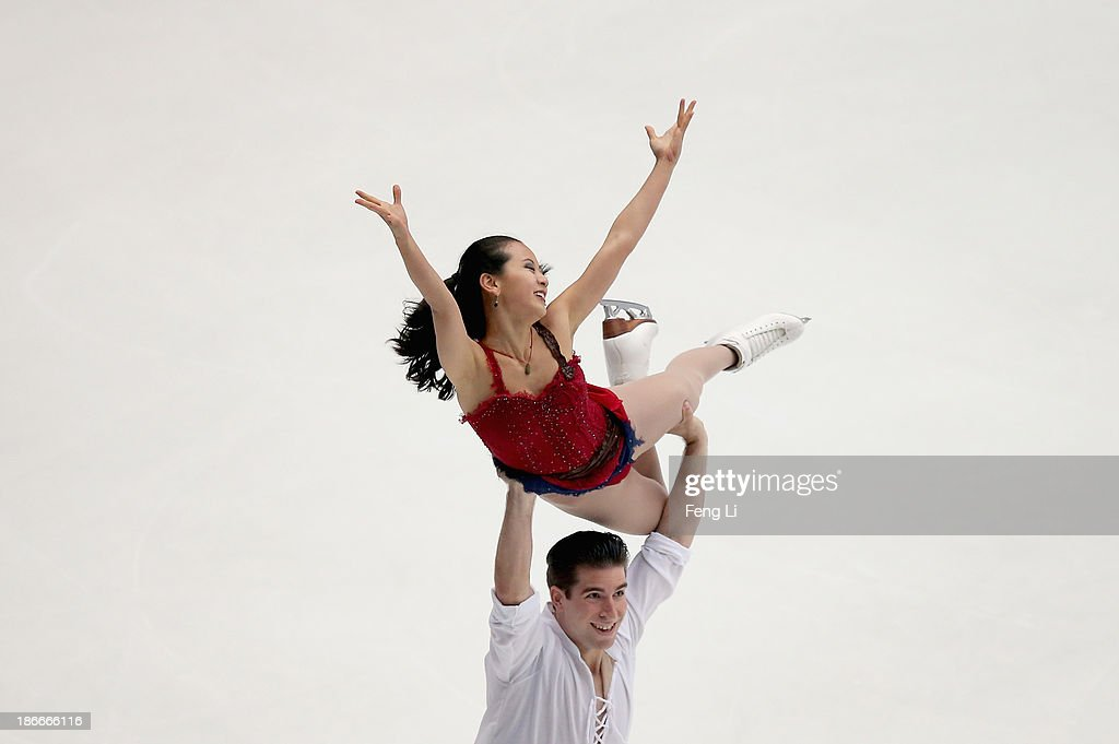 Felicia Zhang and Nathan Bartholomay of United States skate in the Ice Dance Free Dance during Lexus Cup of China ISU Grand Prix of Figure Skating 2013 at Beijing Capital Gymnasium on November 2, 2013 in Beijing, China.