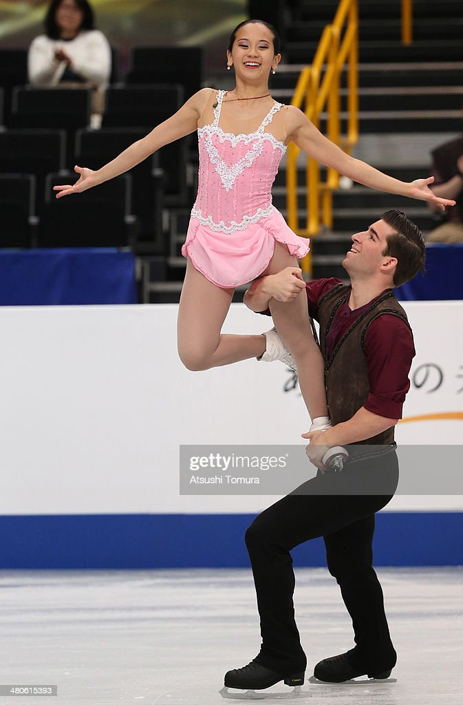 <a gi-track='captionPersonalityLinkClicked' href=/galleries/search?phrase=Felicia+Zhang&family=editorial&specificpeople=7338307 ng-click='$event.stopPropagation()'>Felicia Zhang</a> and <a gi-track='captionPersonalityLinkClicked' href=/galleries/search?phrase=Nathan+Bartholomay&family=editorial&specificpeople=9726215 ng-click='$event.stopPropagation()'>Nathan Bartholomay</a> of USA compete in the Pairs short program during ISU World Figure Skating Championships at Saitama Super Arena on March 26, 2014 in Saitama, Japan.