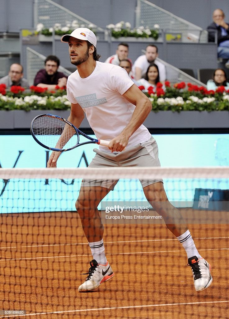 Feliciano Lopez attends Charity Day Tournament during Mutua Madrid Open at La Caja Magica on April 29, 2016 in Madrid, Spain.