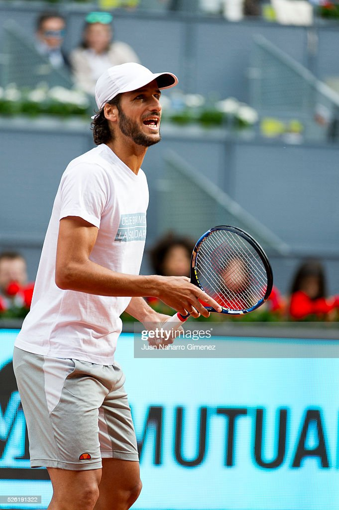 <a gi-track='captionPersonalityLinkClicked' href=/galleries/search?phrase=Feliciano+Lopez&family=editorial&specificpeople=206172 ng-click='$event.stopPropagation()'>Feliciano Lopez</a> attends Charity day tournament during Mutua Madrid Open at Caja magica on April 29, 2016 in Madrid, .