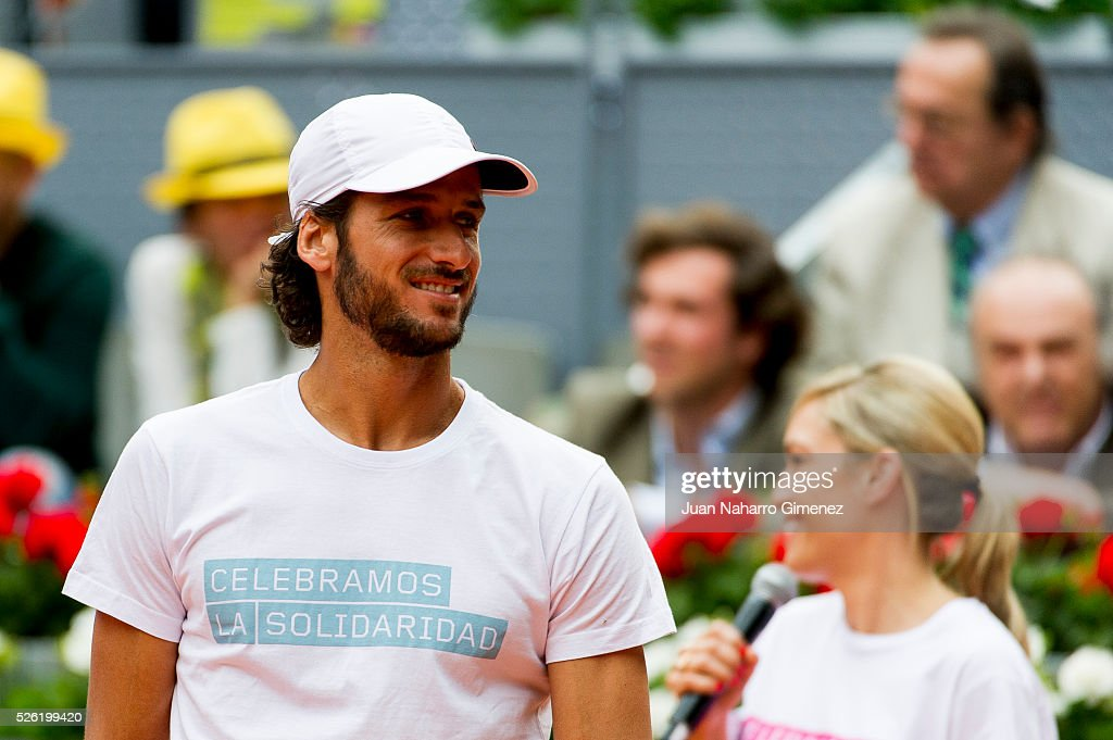 <a gi-track='captionPersonalityLinkClicked' href=/galleries/search?phrase=Feliciano+Lopez&family=editorial&specificpeople=206172 ng-click='$event.stopPropagation()'>Feliciano Lopez</a> attends Charity day tournament during Mutua Madrid Open at Caja magica on April 29, 2016 in Madrid, Spain.