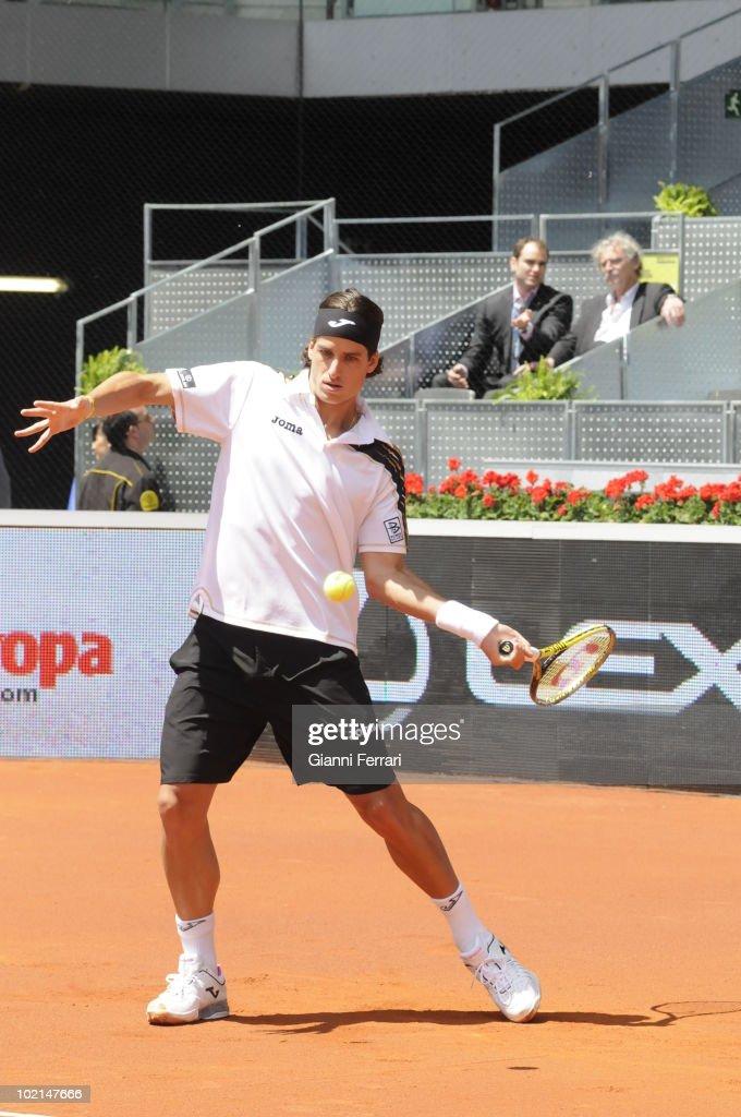 Feliciano Lopez, ESP, in 'Mutua Madrilena Madrid Open' of tennis, 8th May 2010, in 'La Caja Magica'. Madrid, Spain.