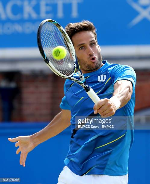 Feliciano Lopez in action against Tomas Berdych