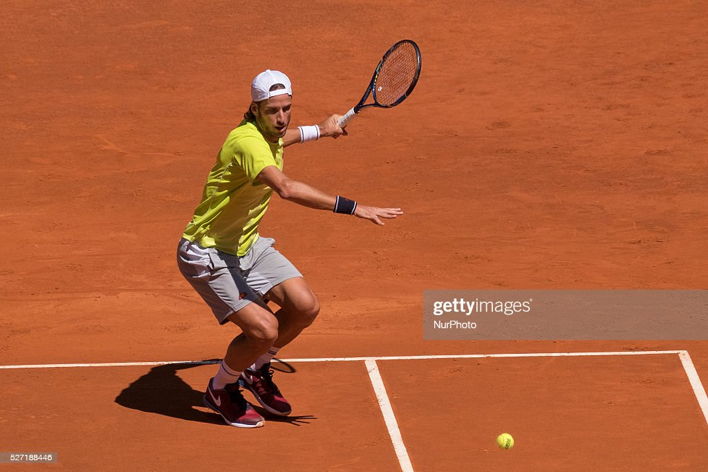 Feliciano Lopez of Spain during day three of the Mutua Madrid Open tennis tournament at the Caja Magica on May 02, 2016 in Madrid,Spain.