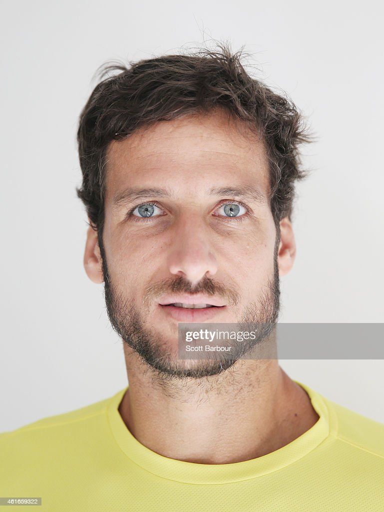 Feliciano Lopez of Spain poses during the ellesse Tennis Performance Apparel Launch on January 17, 2014 in Melbourne, Australia. The new range of tennis performance apparel will be worn by Feliciano Lopez, Elina Svitolina and Monica Puig at the Australian Open.