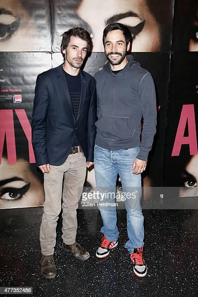 Felicien Juttner and Assaad Bouab attend the 'Amy' Paris Premiere at Cinema Max Linder on June 16 2015 in Paris France