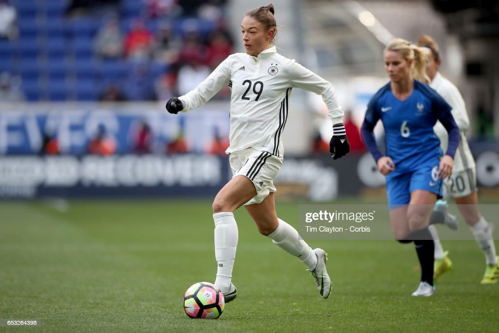 Felicitas Rauch #29 of Germany in action during the France Vs Germany SheBelieves Cup International match at Red Bull Arena on March 4, 2017 in Harrison, New Jersey.