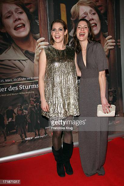 Felicitas Woll and Inga Birkenfeld at the Premiere Of Ard film 'Children Of The Storm' In The Astor Film Lounge in Berlin