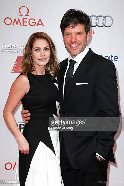 Felicitas Woll and Tim Bergmann attend the German Film Ball 2014 on January 18 2014 in Munich Germany