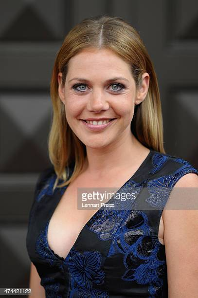 Felicitas Woll arrives for the Bayerischer Fernsehpreis 2015 at Prinzregententheater on May 22 2015 in Munich Germany