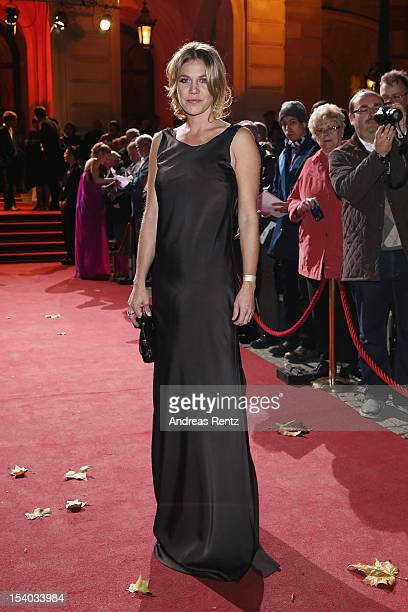 Felicitas Woll arrives for the Hesse Film and Cinema Award 2012 at Alte Oper on October 12 2012 in Frankfurt am Main Germany