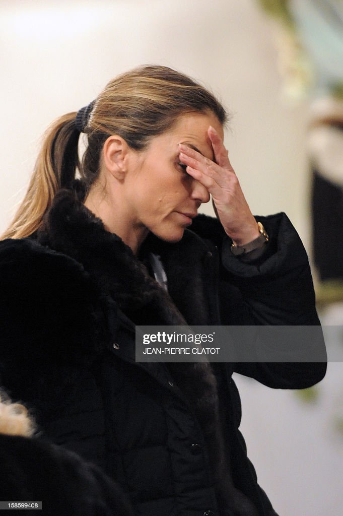 Felicite Herzog, the daughter of French climber Maurice Herzog is pictured during her father's funeral ceremony, on December 20, 2012 at the Saint-Michel church in Chamonix, French Alps. Maurice Herzog, the French climber who conquered Annapurna in the first recorded ascent of a peak above 8,000 metres, has died at the age of 93, on December 13.