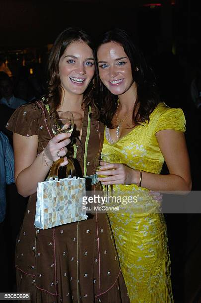Felicity and Emily Blunt attend the after party of the Sydney Film Festival at the State Theatre June 10 2005 in Sydney Australia
