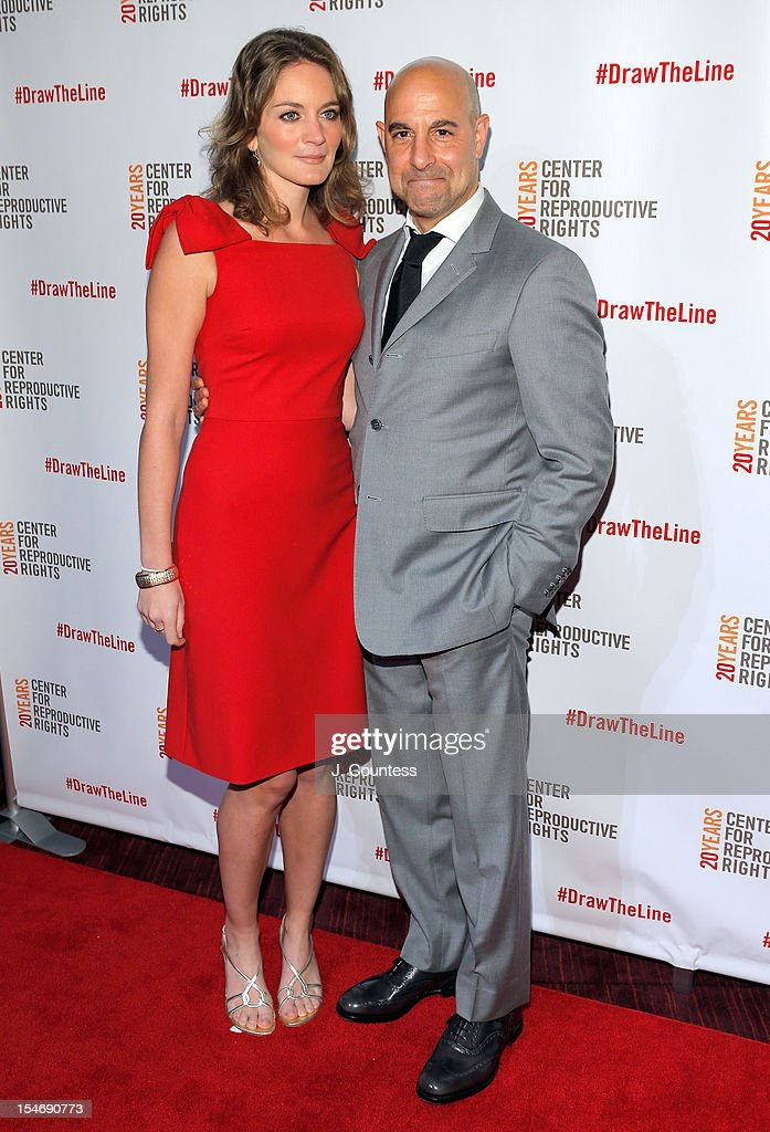 Felicity Blunt and actor <a gi-track='captionPersonalityLinkClicked' href=/galleries/search?phrase=Stanley+Tucci&family=editorial&specificpeople=209366 ng-click='$event.stopPropagation()'>Stanley Tucci</a> attend the Center For Reproductive Rights Inaugural Gala at Jazz at Lincoln Center on October 24, 2012 in New York City.