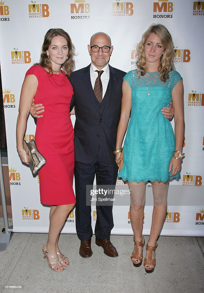 Felicity Blunt, <a gi-track='captionPersonalityLinkClicked' href=/galleries/search?phrase=Stanley+Tucci&family=editorial&specificpeople=209366 ng-click='$event.stopPropagation()'>Stanley Tucci</a> and guest attend the 2012 Mario Batali Foundation Honors Dinner at Del Posto Ristorante on September 9, 2012 in New York City.