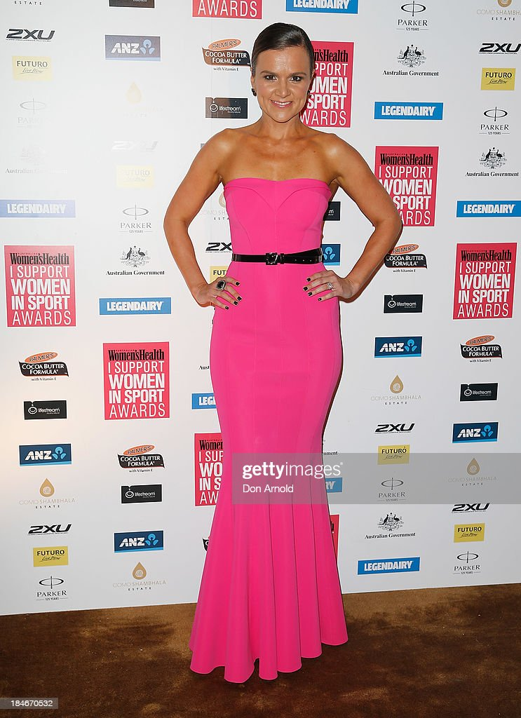 Felicity Harley arrives at the 'I Support Women In Sport' awards at The Ivy Ballroom on October 15, 2013 in Sydney, Australia.