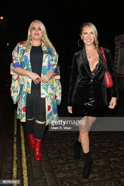 Felicity Hayward and Naomi Isted attending the The Trafalgar St James launch party on October 18 2017 in London England