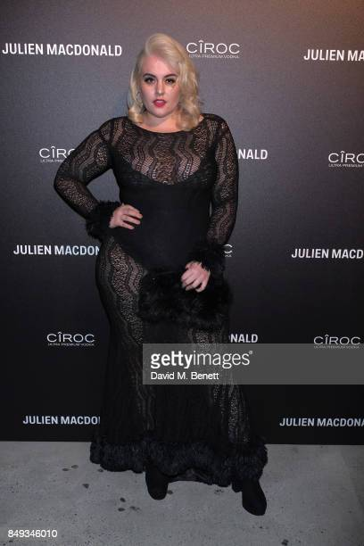Felicity Hayward attends Julien Macdonald Spring Summer 2018 Show sponsored by Ciroc at The Bankside Vaults on September 18 2017 in London England
