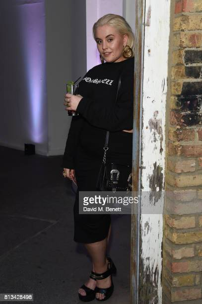 Felicity Hayward attends the launch event for the limited edition Disturbing London x smart BRABUS fortwo car at Hoxton Docks on July 12 2017 in...