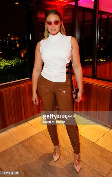 Felicity Hayward attends the launch of The Trafalgar St James in the hotel's spectacular new bar The Rooftop on October 18 2017 in London England