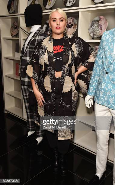 Felicity Hayward attends the Noose Monkey PreLFWM party during London Fashion Week Men's June 2017 at W London Leicester Square on June 8 2017 in...
