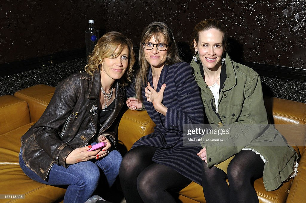 Felicity Huffman, Amanda Peet, and Sarah Paulson attend the Tribeca Film Festival 2013 after party for 'Trust Me' sponsored by Ciroc on April 20, 2013 in New York City.