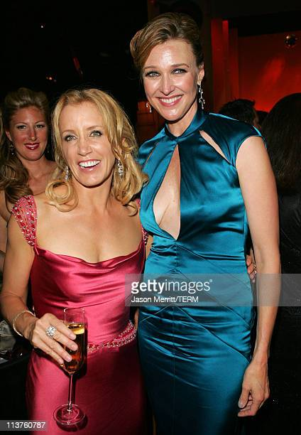 Felicity Huffman and Brenda Strong during 57th Annual Primetime Emmy Awards Governors Ball at The Shrine in Los Angeles California United States