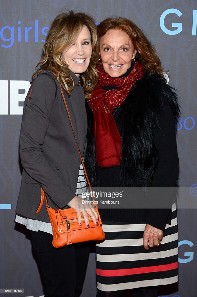 <a gi-track='captionPersonalityLinkClicked' href=/galleries/search?phrase=Felicity+Huffman&family=editorial&specificpeople=201903 ng-click='$event.stopPropagation()'>Felicity Huffman</a> and Diane Von Furstenberg attend the Premiere Of 'Girls' Season 2 Hosted By HBO at NYU Skirball Center on January 9, 2013 in New York City.