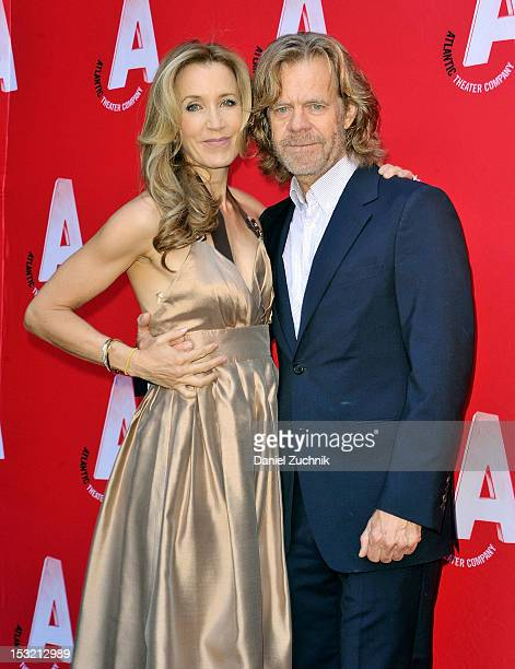 Felicity Huffman and William H Macy attend the Atlantic Theater Company's Grand ReOpening of The Linda Gross Theater on October 1 2012 in New York...
