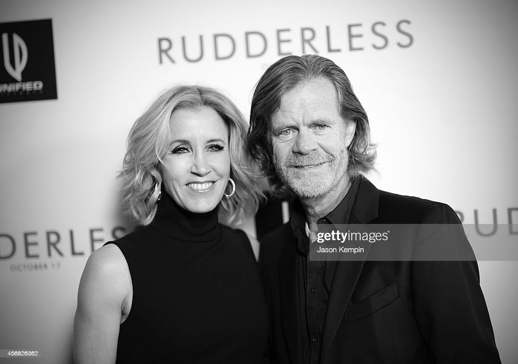 Felicity Huffman and William H Macy attend the premiere of 'Rudderless' at the Vista Theatre on October 7 2014 in Los Angeles California